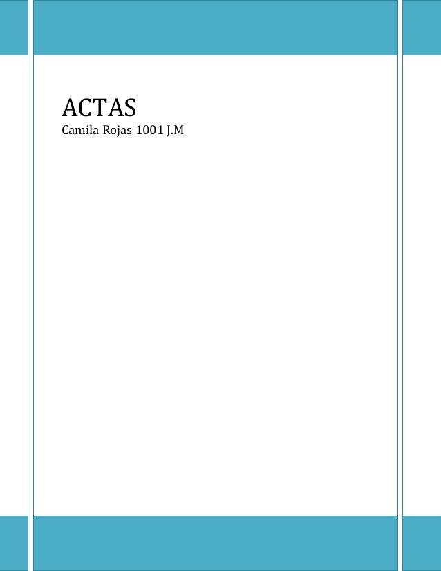 Fundación  ACTAS Camila Rojas 1001 J.M