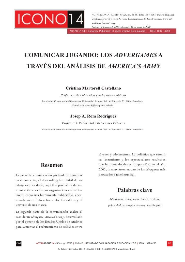 ACTAS ICONO 14, 2010, Nº A4, pp. 83-96. ISSN 1697-8293. Madrid (España)                                                   ...