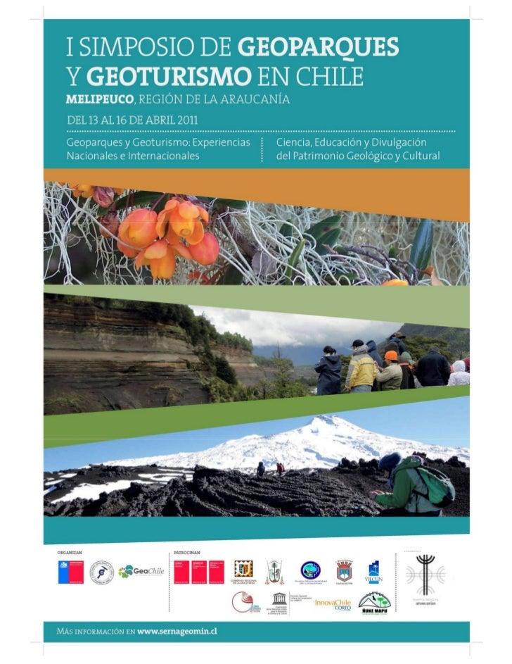 I Simpos io de Geoparques y Geoturismo en ChileActas del I Simposio de Geoparques y Geo turismo en Chile 13-16 abril de 20...