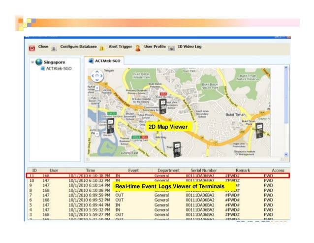 13 2D Map Viewer Real-time Event Logs Viewer of Terminals