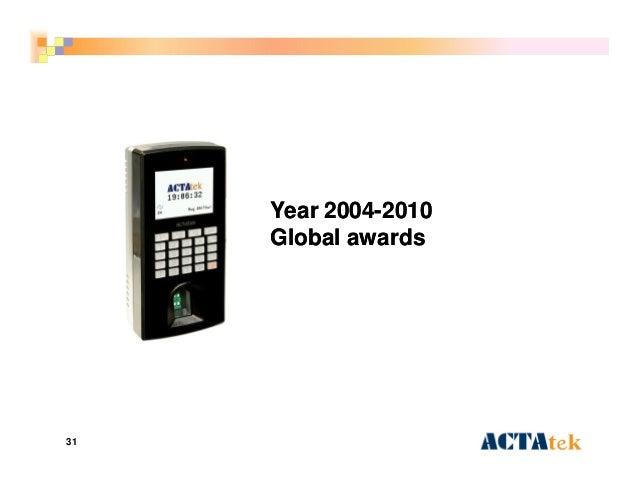 31 Year 2004Year 2004--20102010 Global awardsGlobal awards