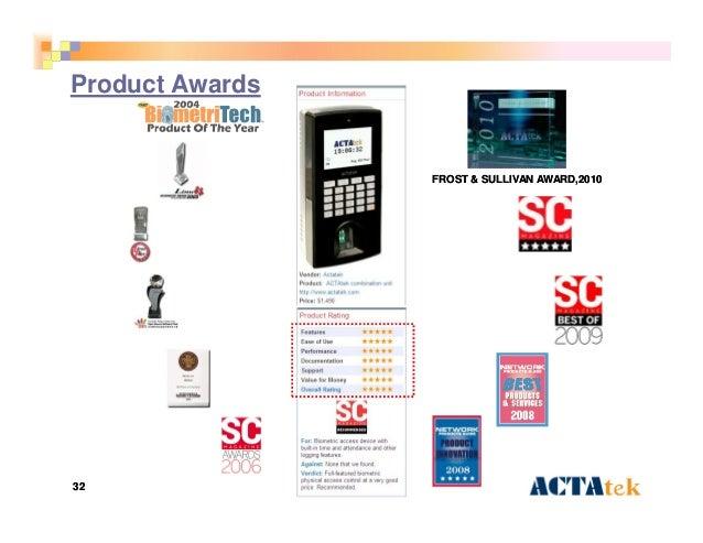 3232 Product Awards FROST & SULLIVAN AWARDFROST & SULLIVAN AWARD,2010,2010
