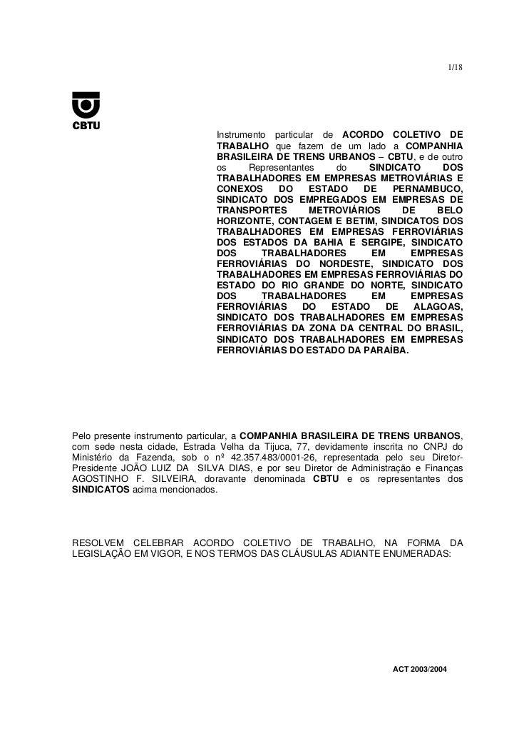 1/18                              Instrumento particular de ACORDO COLETIVO DE                              TRABALHO que f...
