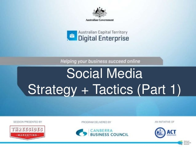 Social Media Strategy + Tactics (Part 1)
