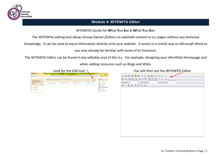 Module 4: The WYSIWYG Editor
