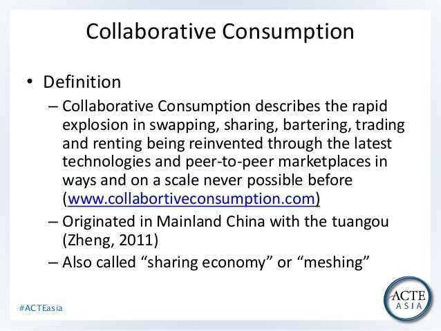 Collaborative Teaching Definition ~ Sharing economy collaborative consumption it s affect on