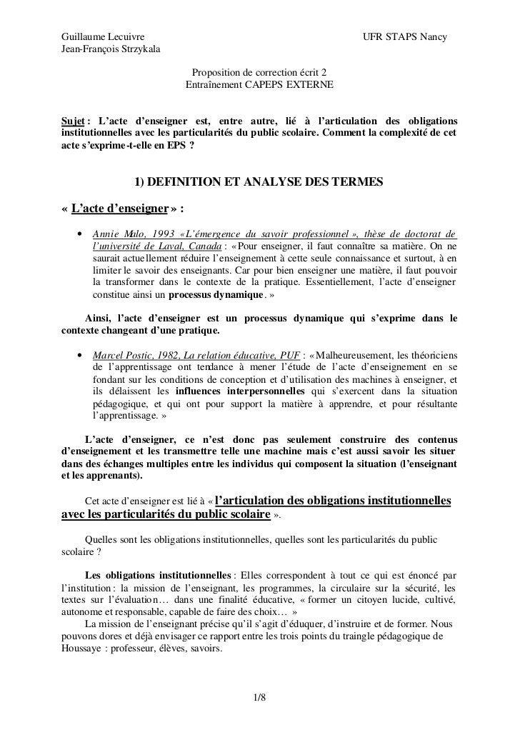 Guillaume Lecuivre                                                          UFR STAPS NancyJean-François Strzykala        ...