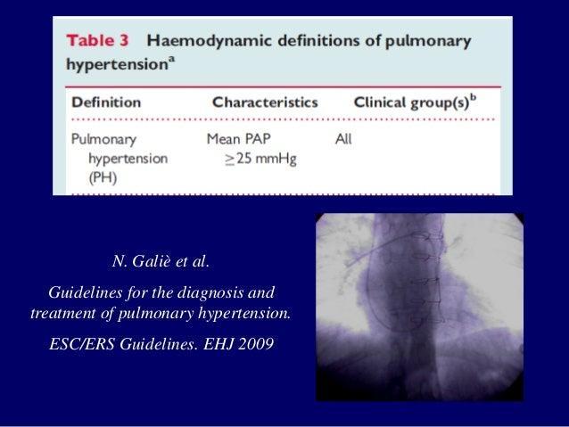 esc ers guidelines for pulmonary hypertension