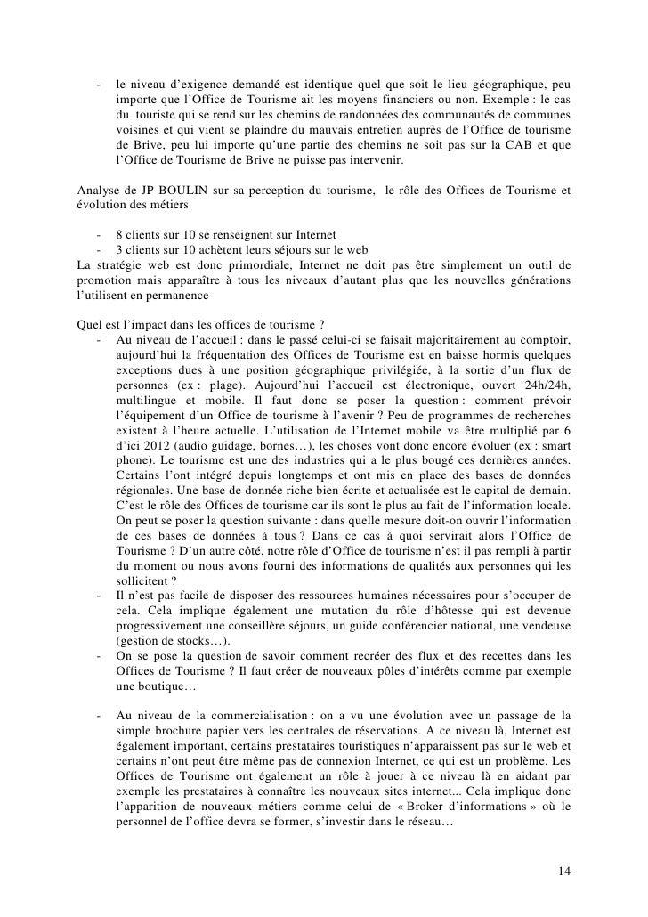 Actes 4 me dition des rencontres du tourisme et du d veloppement loc - Office de tourisme de brive ...
