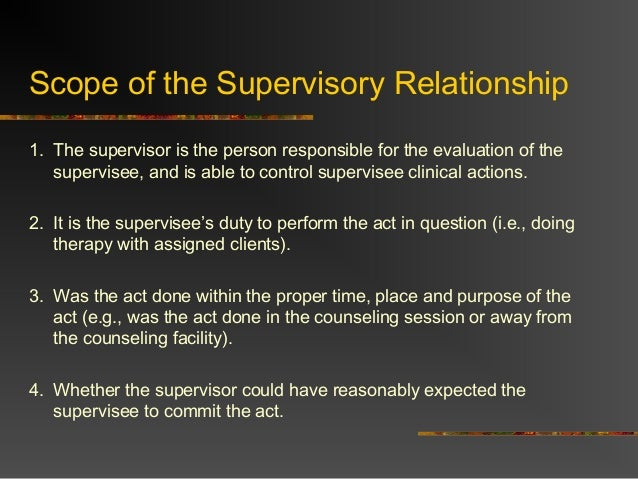 principles scope and purpose of professional supervision