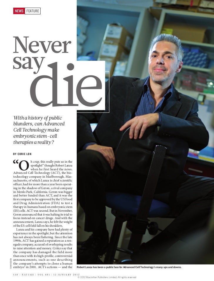 NEWS FEATURE            Never            say                        die            With a history of public            blu...