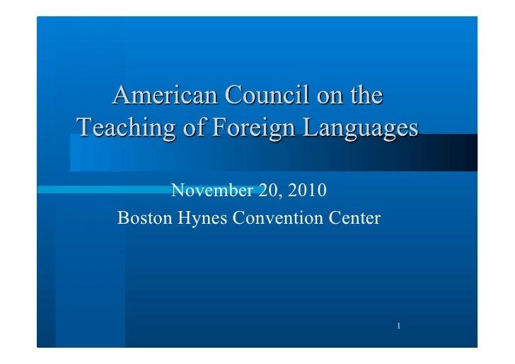 November 20, 2010Boston Hynes Convention Center                                 1