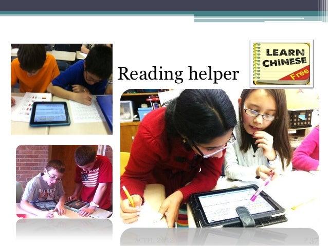 Reading          Reading helper            ACTFL   2012   P 37