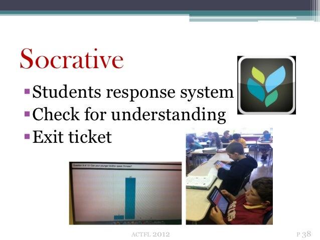 SocrativeStudents response systemCheck for understandingExit ticket            ACTFL   2012    P 38