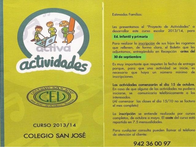 30 de septiembre Ed. Infantil y primaria