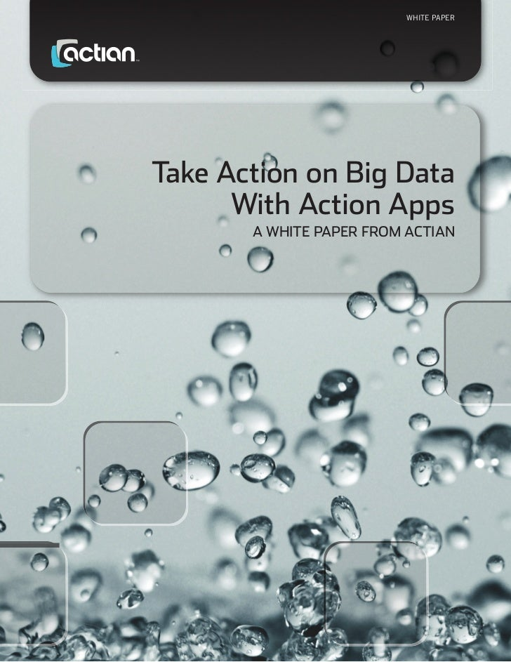 WHITE PAPERTake Action on Big Data      With Action Apps       A WHITE PAPER FROM ACTIAN