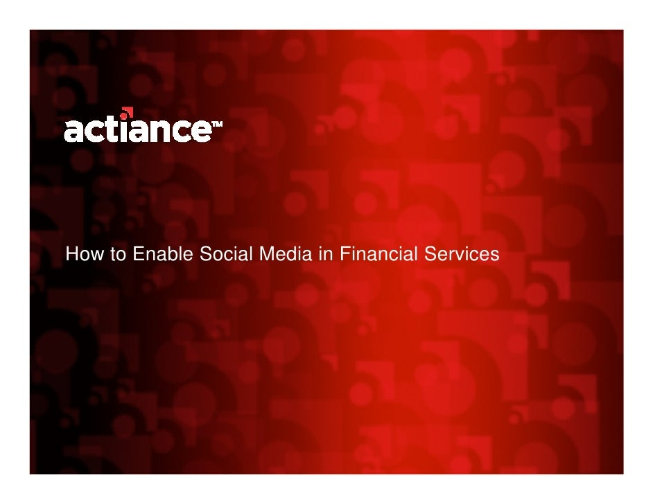 How to Enable Social Media in Financial Services