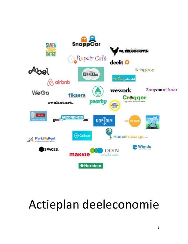 1 Actieplan deeleconomie