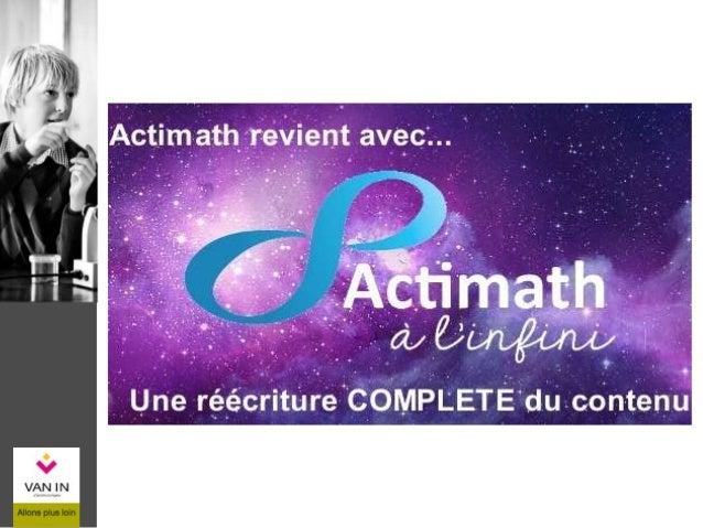 Aline Want Philippe Ancia Maryse Bams Michaël Chevalier Marlène Colin Fabrice Huin Equipe d'Actimath à l'infini 2015 Pasca...