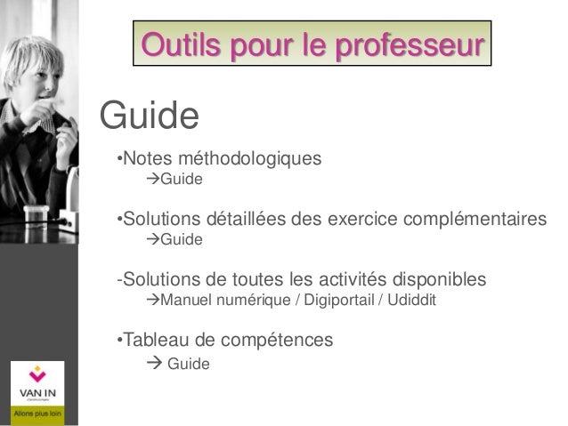 Guide - Notes méthodologiques Outils pour le professeur