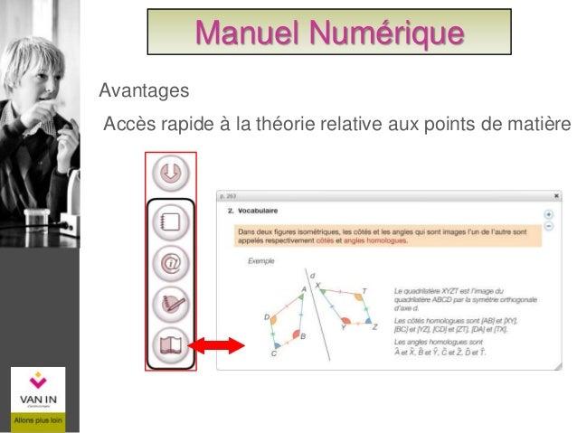 Accès rapide aux outils Manuel Numérique
