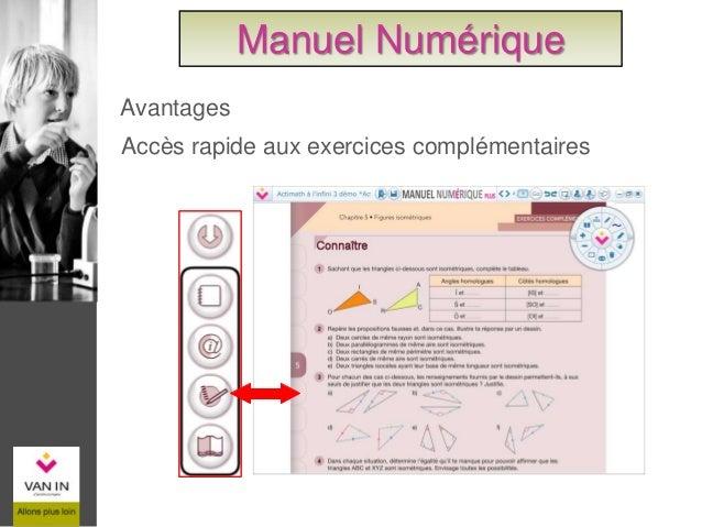 Ajouter une image, un son, une vidéo, un lien, … Accès rapide à la personnalisation Manuel Numérique