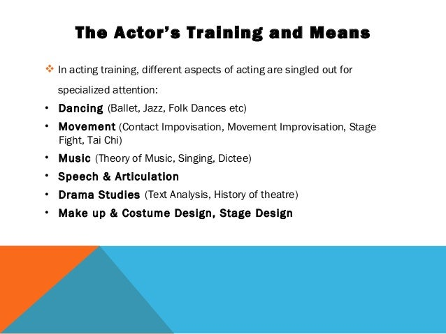 aspects of acting