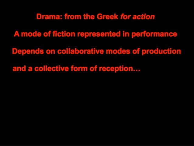 Drama and Acting lecture  Slide 2
