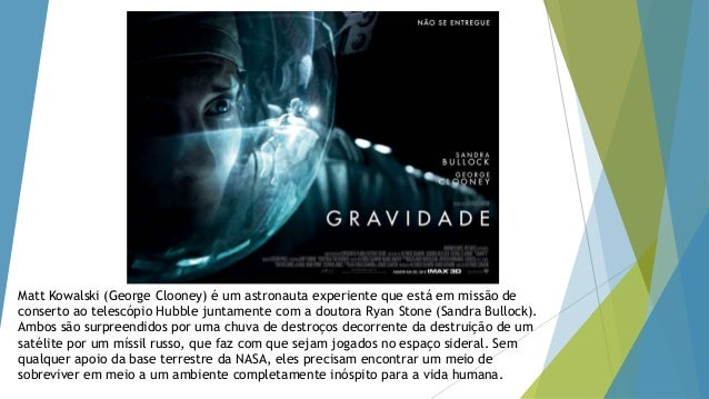 Matt Kowalski (George Clooney) é um astronauta experiente que está em missão de conserto ao telescópio Hubble juntamente c...