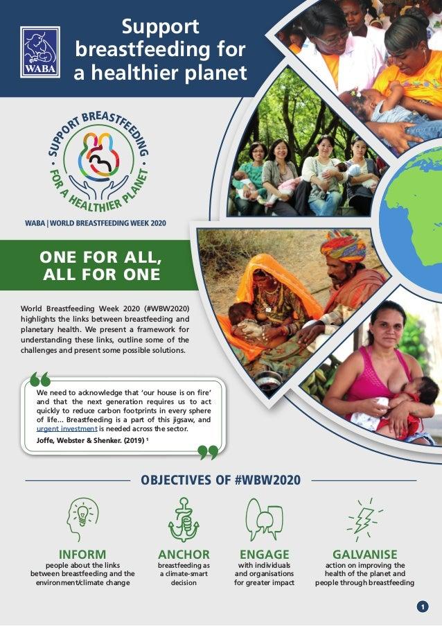 FORA HEALTHIER P LANET SUPPO RT BREASTFEEDING ONE FOR ALL, ALL FOR ONE World Breastfeeding Week 2020 (#WBW2020) highlights...