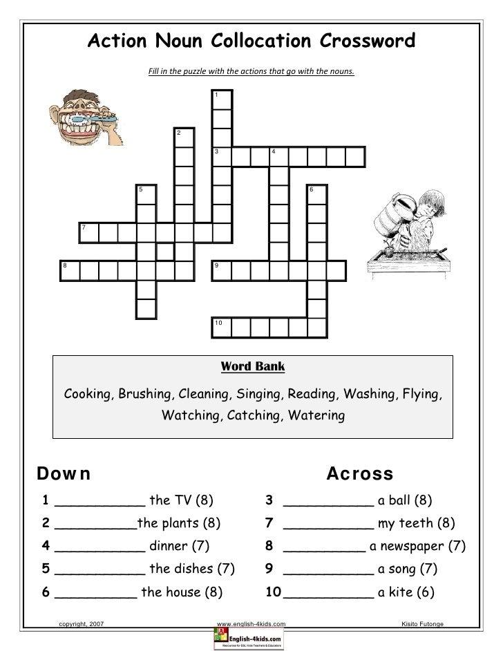 Action20 noun20 collocation20 crossword action noun collocation crossword fill in the puzzle with the actions ccuart Choice Image