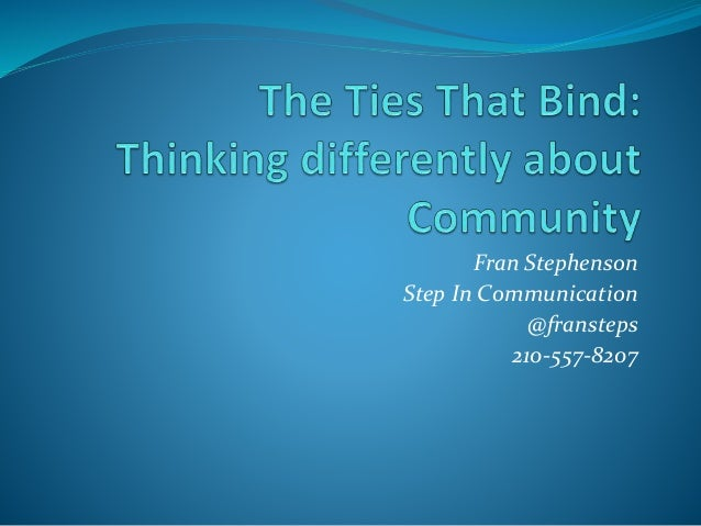 Fran Stephenson Step In Communication @fransteps 210-557-8207