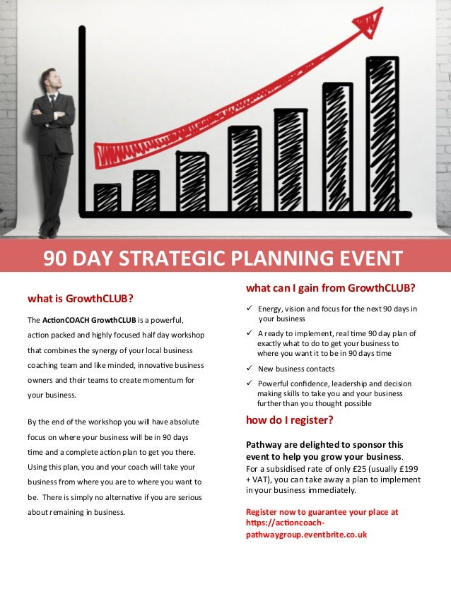 90  DAY  STRATEGIC  PLANNING  EVENT  what  is  GrowthCLUB?  The  Ac>onCOACH  GrowthCLUB  is  a  powerful,  ac1on  packed  ...