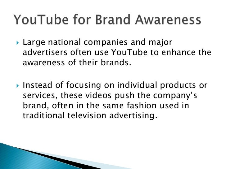 YouTube for Brand Awareness<br />YouTube for Product Advertising<br />YouTube for Retail Promotion<br />YouTube for Direct...