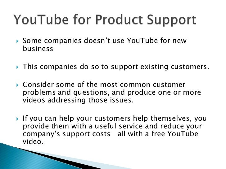 YouTube is a terrific channel for generating direct sales for products and services.<br />All you have to do is show the p...