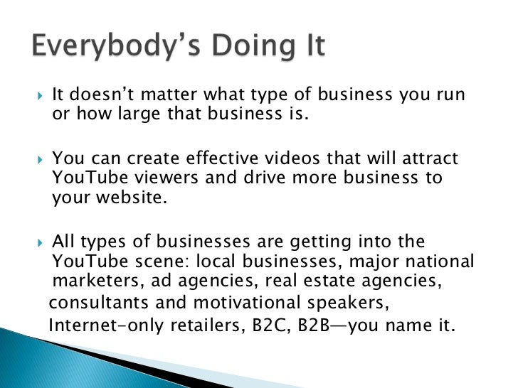 If you have a company welcome video, post it on YouTube and make it public. <br />Think of this as a Public Relation exerc...