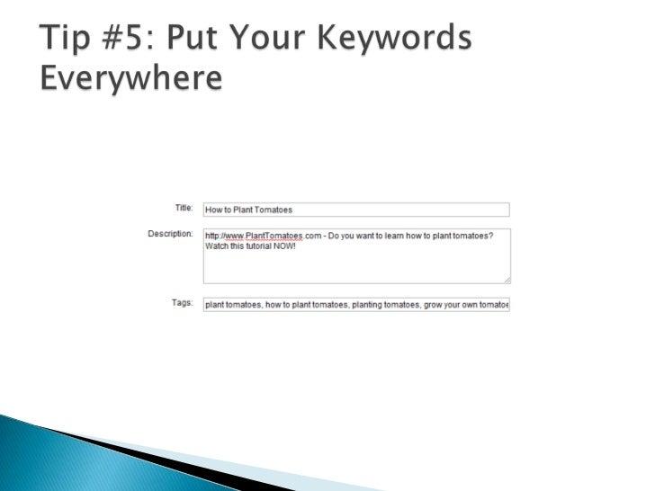 Tip #4: Put Your URL in the Description<br />