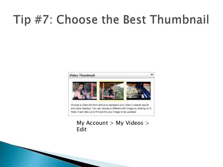"Tip #6: ""Steal"" Keywordsfrom Successful Videos<br />"