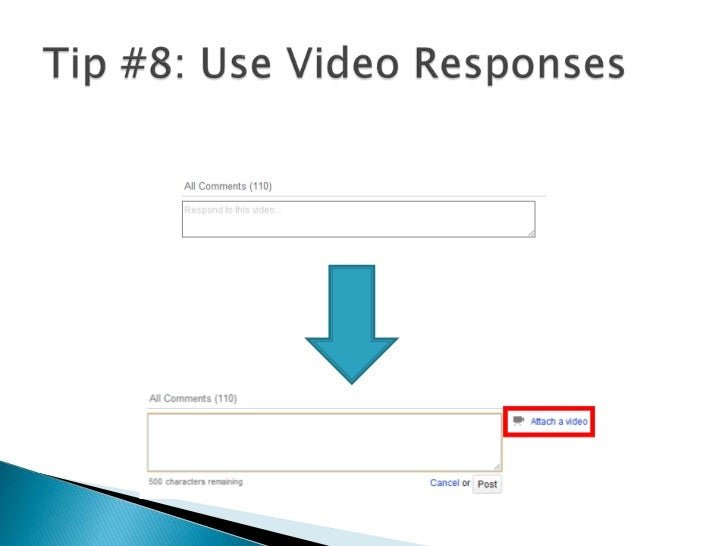 Tip #8: Use Video Responses<br />Search your keywords > Find videos with a lot of views > Post video responses where appro...