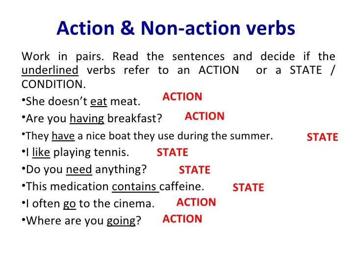 action verb lists