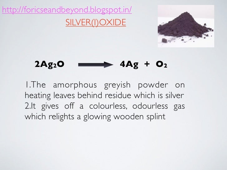 Action Of Heat On Chemical Compound