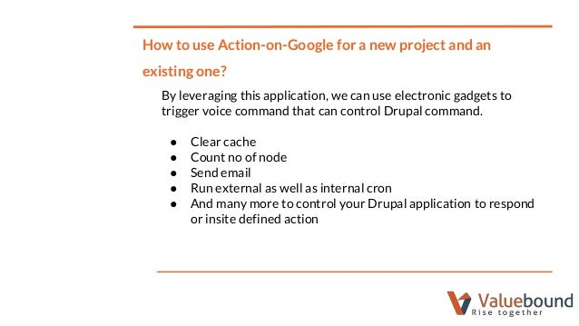 Action on google with Drupal
