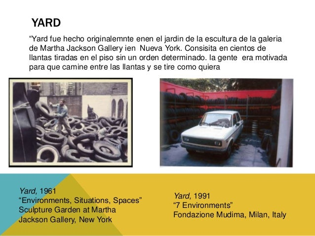 """Yard, 1998  """"Out of Actions""""  Geffen Contemporary at  the Museum of  Contemporary Art,  Los Angeles, California  Yard (To ..."""
