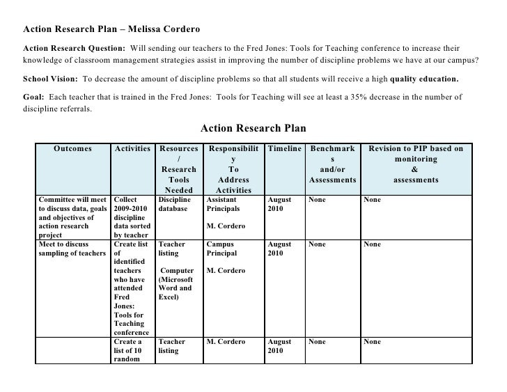 Design Classroom Action Research ~ Action plan