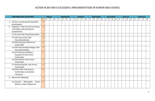 h s plan template