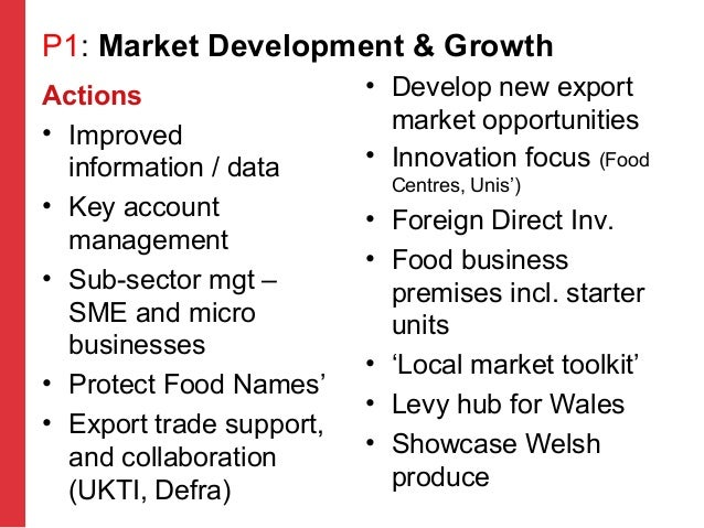 Food And Drink Wales Priority Sector