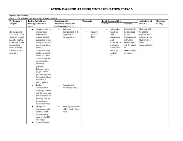 Section 5. Developing an Action Plan - Community Tool Box