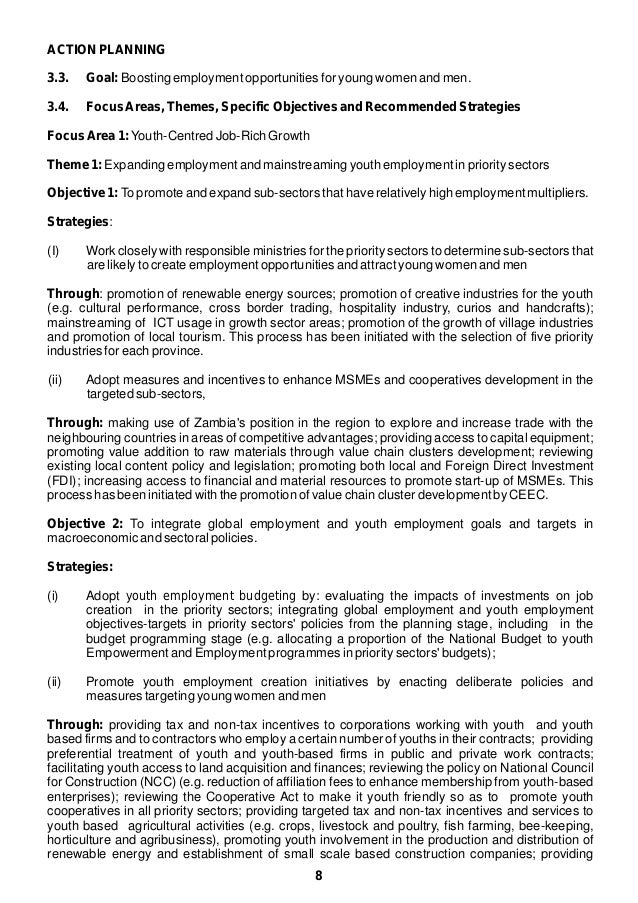 action plan for youth empowerment and employment
