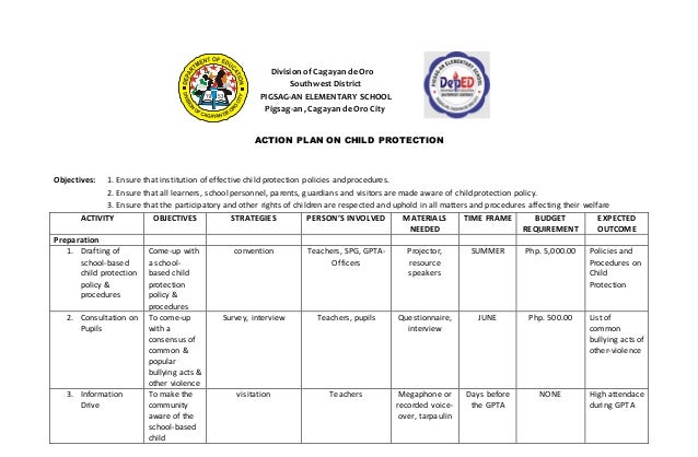 Action Plan On Child Protection