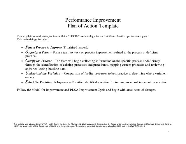Unity is strength action plan template for Template for action plan for performance improvement